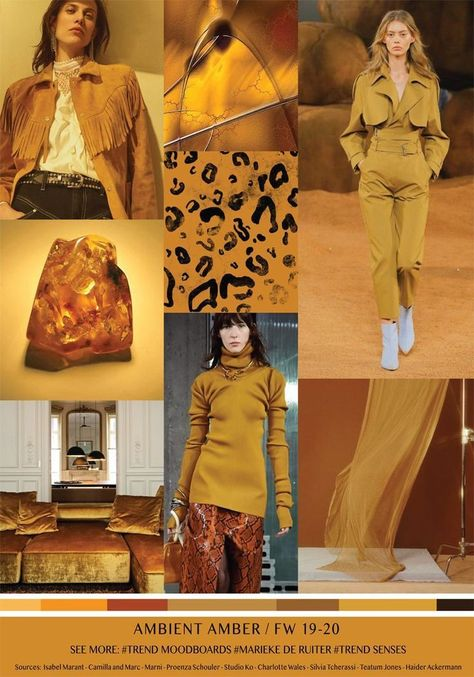 MOODBOARD - AMBIENT AMBER - AUTUMN / WINTER 2019-2020  #Amber #ambient #autumn #moodboard #winter