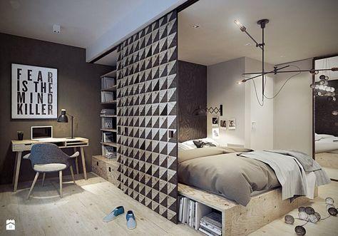 Sypialnia styl Skandynawski - zdjęcie od razoo-architekci