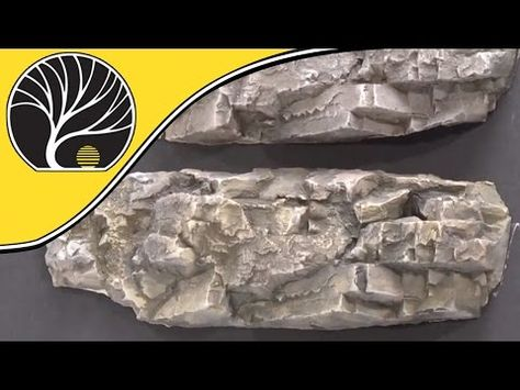 How To Color Plaster Rocks With Earth Colors Liquid Pigments - Model Scenery | Woodland Scenics - YouTube