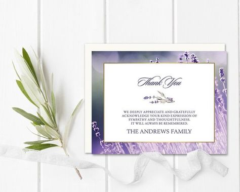 funeral thank you cards sympathy acknowledgement cards bereavement cards sympathy thank yous funeral cards personalized funeral cards - Personalized Funeral Thank You Cards