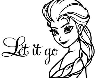 Frozen Let It Go Coloring Pages Frozen Coloring Pages Disney Decals Frozen Coloring