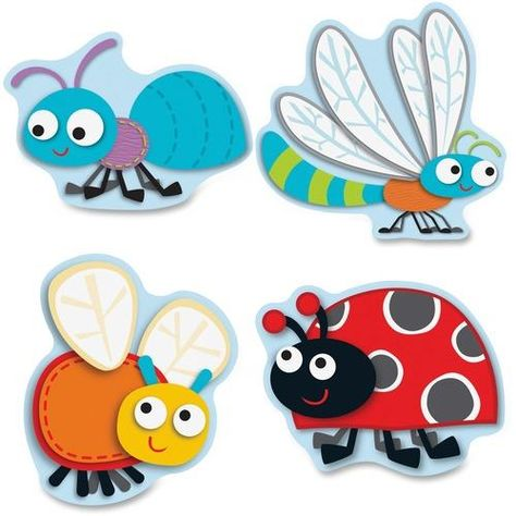 Carson-Dellosa Buggy For Bugs Cut-Outs Set - Zerbee