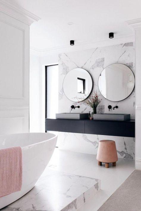 Revetement Mural Salle De Bain D Aspect Marbre Plan Vasque