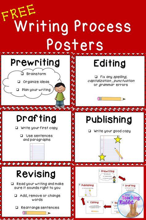 Writing Process Posters Writing Process Posters Teaching Writing Writing Worksheets Revising and editing worksheets