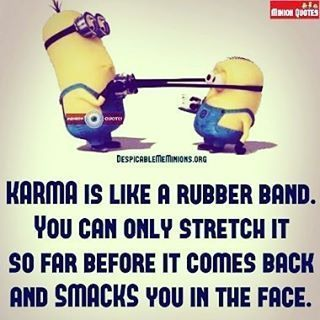 So Appropriate You Reap What You Sow And Ho You Are Getting Yours Back Tenfol Funny Minion Quotes Funny Karma Quotes Karma Funny