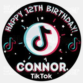Tiktok Edible Image Cake Topper Personalized Birthday Sheet Decoration Custom Party Frosting Transfer F Edible Image Cake Edible Image Cake Topper Cake Toppers