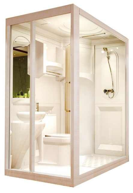 Source Multi Functional Prefabricated Modular Bathroom Unit Shower Enclosures For Apartments On M Ali In 2020 Modular Bathrooms Bathroom Units Prefab Shower Enclosures