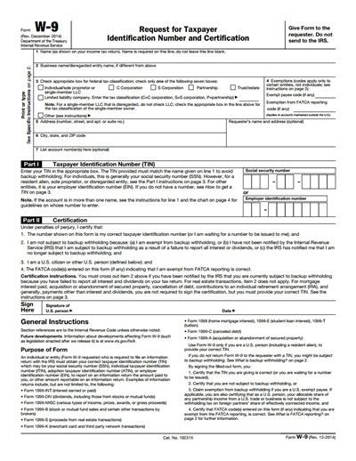 Downloadable Form W 9 Irs W 9 Form Free Download Create Edit Fill And Print Tax Forms Irs Forms Fillable Forms