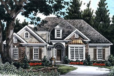 Plan 710138btz 3 Bed Home Plan With Copper Window Accents In 2020 Country Style House Plans Cottage House Plans Cottage House Designs