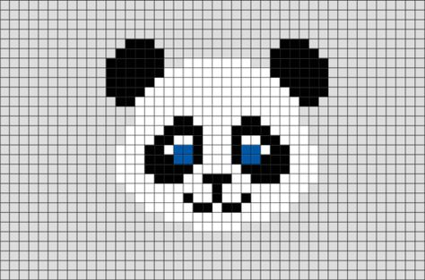 Panda Pixel Art Pixel Art Point De Croix Et Dessin Pixel