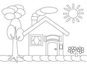 Aneka Gambar Mewarnai Mewarnai Gambar Rumah Untuk Anak
