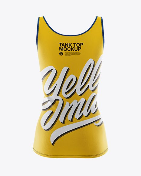 Download Women S Tank Top Mockup Back View In Apparel Mockups On Yellow Images Object Mockups Mockup Psd Clothing Mockup Design Mockup Free