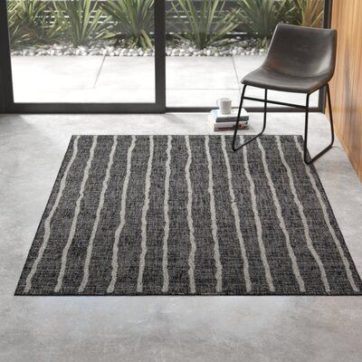 Sicily Charcoal Indoor Outdoor Area Rug Rug Size Rectangle 9 3 X 12 6 In 2020 Indoor Outdoor Area Rugs Area Rugs Outdoor Rugs