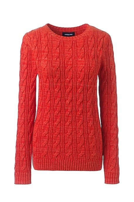 Women's Drifter Cotton Cable Knit Sweater Crewneck from