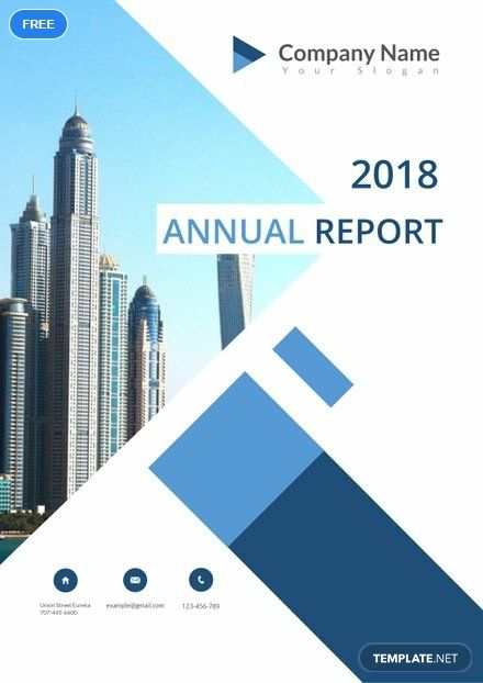 Free Annual Report Cover Page Seni