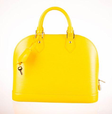 LOUIS VUITTON Yellow Epi Leather Alma PM Bag  fashion  clothing  shoes   accessories 3c51cf4e0846f