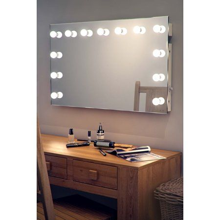 Diamond X Wallmount Hollywood Makeup Mirror With Dimmable Led K91ww Walmart Com Dressing Room Mirror Bathroom Mirror Design Hollywood Mirror
