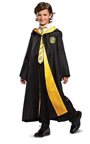 Harry Potter Robe, Official Hogwarts Wizarding World Costume Robes, Deluxe Kids Size Dress Up Accessory - Medium (7-8) / Hufflepuff