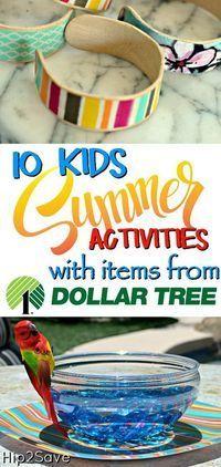 10 Kid's Summer Activities Using Dollar Tree Items - Hip2Save
