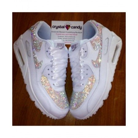 nouveau produit bd93a bbd3a Acheter Nike Air Max 90 Candy Crystal All White Chaussures ...