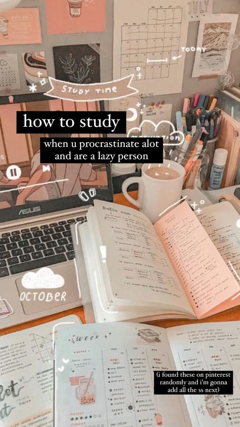 how to study when u're lazy | tan