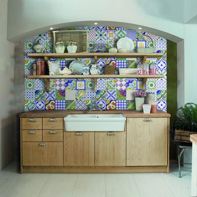 Risultati immagini per cucina in muratura vietrese   casa al ...