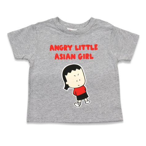 Angry Little Asian Girl TODDLER tshirt • preshrunk toddler shirt made of 100% cotton.• This shirt is in stock and ready to ship.