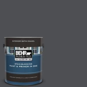 Behr Ultra 1 Gal Ul260 1 Cracked Pepper Satin Enamel Exterior Paint And Primer In One 985301 The Home Depot Interior Paint Behr Premium Plus Ultra Paint Primer