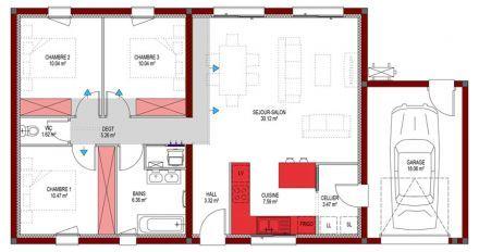 Plan De Maison Moderne Maison Zante Plan Maison 3 Chambres Plan Maison Plan Maison 100m2