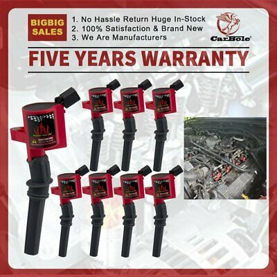 Curved Boot Ignition Coils For Ford 4 6l 5 4l V8 Dg508 Crown Victoria Expedition Ebay In 2020 Ignition Coil Ignite Ignition System