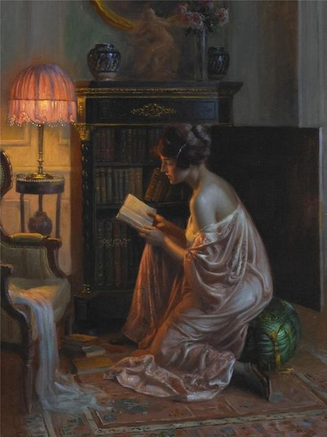 A favourite book by Delphin Enjolras (french painter).jpg
