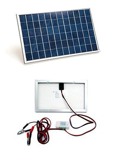 Eco Worthy 10w Pv Polycrystalline Solar Panel System Kit W 3a Charge Controller 30a Battery Clips Solar Energy For Home Solar Energy Panels Solar Panel Installation