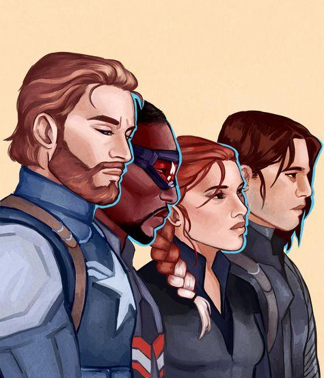Captain America Team Print