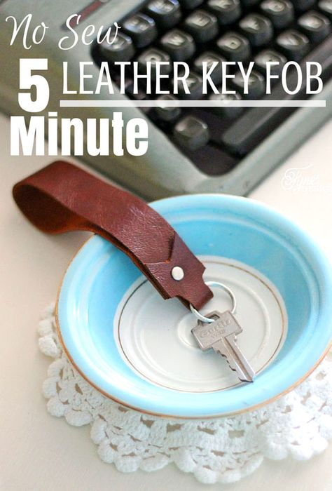 Easy DIY tutorial for a leather key fob. 5 min MOPS craft
