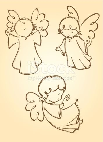 Variation of angel poses. Traced from my hand drawn artwork, properly grouped with high resolution jpg. Visit portfolio for More Valentines Series Lightbox
