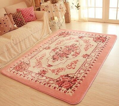 Romantic Pink Rose Rug For Living Room American Country Style Carpet Bedroom Rug Bedroom Carpet Style Carpet Shabby Chic Rug
