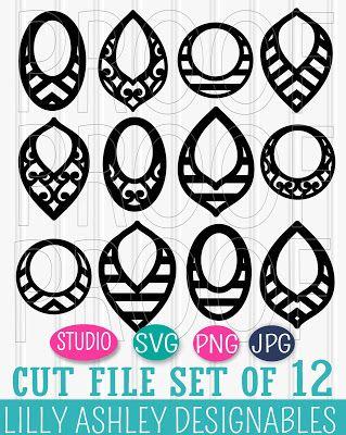 Free SVG Cut File Set | Laser cut | Leather earrings, Free