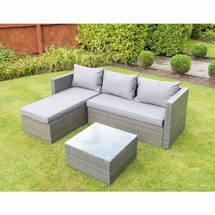 331305 Sorrento Corner Sofa Set Modern Garden Furniture Corner Sofa Set Outdoor Furniture Chairs