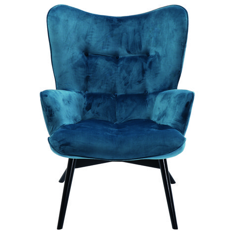 Sessel Clubsessel Cocktailsessel Loungesessel Retro Vicky Samt Petrol Neu Kare Ebay Armchair Armchair Design Velvet Armchair