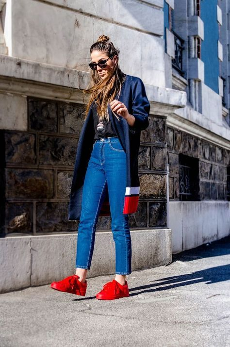 How to Wear: Adidas Superstar | Look con tenis, Outfits con ...