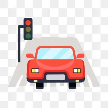 Red Car Red Light Driving Red Light Car Cartoon Illustration Creative Illustration Red Car Red Light Driving Png And Vector With Transparent Background For F Cartoon Illustration Creative Illustration Car Cartoon