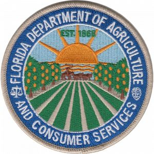 US State of Florida, Department of Agriculture and Consumer Services Agency Patch