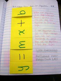 slope intercept form interactive notebook  Math = Love: Interactive Notebook Entry: Graphing Using ...