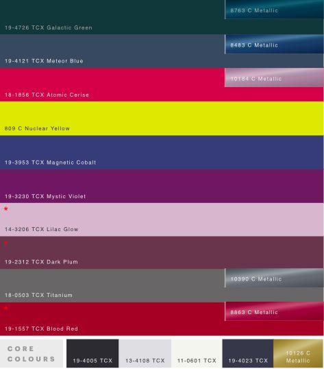 Dark Wonder core colors WGSN