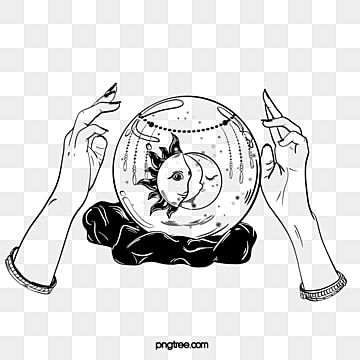 Hand Drawn Crystal Glass Ball Fortunetelling A Decoration Divination Glass Ball Png Transparent Clipart Image And Psd File For Free Download How To Draw Hands Clip Art Glass Ball