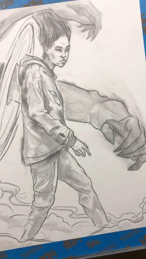 #WIP #sketchbook work by Jefferson Muncy