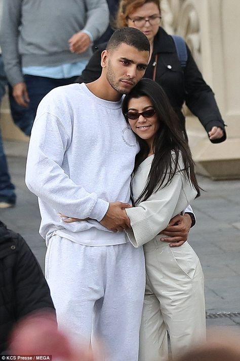 Kourtney Kardashian, 38, packs on PDA with beau Younes ...