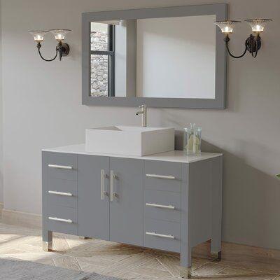 Bathroom Vanity, How Big Of A Mirror For 48 Inch Vanity