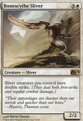 Bonescythe Sliver 2014 Core Set Magic The Gathering Cards