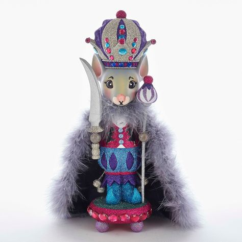 Add whimsical style to your home with this Kurt Adler Hollywood Nutcrackers mouse Christmas floor decor. Glitter detail 14.96''H x 4.53''W x 4.53''D Wood Spot clean  Size: One Size. Color: Multicolor. Gender: unisex. Age Group: adult.